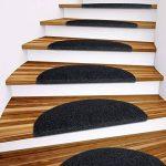 Set de 15 marchettes d'escalier etm® | surface confortable et antidérapante | taille 23x65cm | couleurs diverses - anthracite de la marque etm image 2 produit