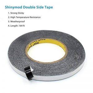 Shinymod 164 pieds Double Side Adhesive Glue Tape Force Résistant aux intempéries Etanche à la poussière Sceau Ruban de montage 54 Yards pour la réparation Écran tactile cellulaire numériseur Écran LCD (25/64 inch) de la marque Shinymod image 0 produit