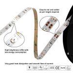 Signcomplex Bande LED flexible 3528 SMD Ruban LED avec ruban autocollant 3M 5m une bobine 12V DC (Blanc chaud) de la marque Signcomplex image 2 produit