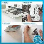 SKULLPAPER Papier Transfert Textile Tshirt / Textile Blancs ou Clairs / y compris 200 modèles de motifs / A4 / pour Inkjet Imprimante / 10 feuilles de la marque Skullpaper image 1 produit