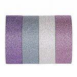 ST Glitter Washi Tape- Paillettes Washi Ruban Adhésif,15mm x 9.1m chaque, Lot de 4 Rouleau de la marque ST tape image 2 produit