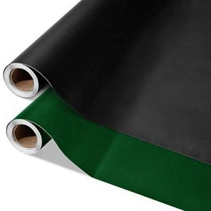 Sticker tableau noir casa pura® multiusage | en noir ou vert | en rouleau - inscriptible avec craie | surface effaçable | taille 43x300cm, noir de la marque casa pura image 0 produit
