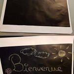 Sticker Tableau Noir, Ivencase Multiusage Adhésive et Amovible pour écrire et effacer 45 x 300 cm DiY décoration présentatio,Noir (avec 5 craies) de la marque ivencase image 4 produit