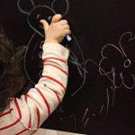 Sticker Tableau Noir, Ivencase Multiusage Adhésive et Amovible pour écrire et effacer 45 x 300 cm DiY décoration présentatio,Noir (avec 5 craies) de la marque ivencase image 1 produit