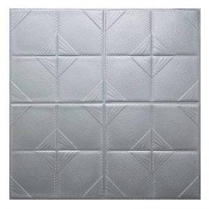 Stickers Muraux Brique 3D WINOMO Papier Peint Brique Carrelage Mural Adhesif en Mousse Imperméable Gris 60x60cm de la marque WINOMO image 0 produit