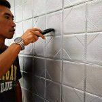 Stickers Muraux Brique 3D WINOMO Papier Peint Brique Carrelage Mural Adhesif en Mousse Imperméable Gris 60x60cm de la marque WINOMO image 3 produit