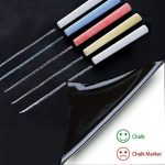 Stickers Tableau Noir Ardoise - Tableau Noir Autocollant Repositionnable - 43cm x 210cm 5 craies - Ezigoo de la marque Ezigoo image 1 produit
