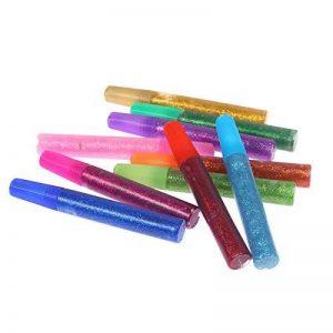 Stylo à encre gel 10pièces Xshelley Set-gel Couleur stylos Flash Poudre Flash Colle Paillettes Colle de la marque Xshelley image 0 produit