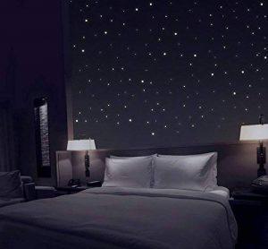 TALINU ciel étoilé avec 277 points lumineux autocollants I 2 ans de garantie satisfaction I point fluorescent, sticker mural adhésif de la marque talinu image 0 produit