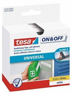 Tesa On & Off Bande auto-agrippante Universal blanc 2,5m x 20mm de la marque Tesa image 0 produit