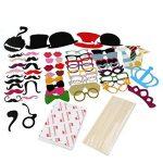 TinkSky 60pcs Accessoires Photobooth Masquerade Accessoires de Photos Lèvre/ Lunettes/ Cravate/ Couronne/ Lunettes/ Moustache Avec Bâton de la marque TinkSky image 4 produit
