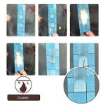 TooMeeCrafts Auto-Adhésif Stickers Muraux Anti-Huile Cuisine Mosaïque Imperméable Pvc Avec Film d'Aluminium 45cm*2m (bleu) de la marque TooMeeCrafts image 2 produit