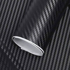 ToWinle 3D Film Autocollant Voiture Fibre de Carbone Adhesif Feuille de Fibre de carbone Autocollant Feuille Épais Noir 152 * 30cm - 2 Rouleaux de la marque ToWinle image 0 produit