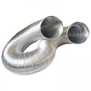 Tuyau d'évacuation, tube flex en aluminium, Aluminium Flexible Ø 125/127mm, 3m par exemple pour climatisation, sèche linge, hotte de la marque daniplus image 0 produit