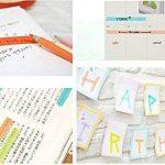 UClever Ruban Washi Adhésif, Bandes Adhésives Masking Tape d'emballage Papier Décoratif (10 couleurs) de la marque UClever image 2 produit