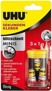 UHU Power Glue Ultra rapide Minis Minis - Liquide 3 x 1 g flüssig de la marque UHU image 0 produit