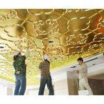 ULTNICE Imitation Feuille d'or pour Décoration Emballage Encadrements Artisanat Décoration 100 Feuilles de la marque ULTNICE image 3 produit