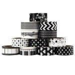 UOOOM 12Rolls Beautiful Washi Tape Masking Tape Ruban adhésif décoratif coloré klebebänder DIY Scrapbook Décoration noir (black) de la marque UOOOM image 1 produit