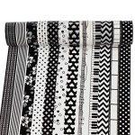UOOOM 12Rolls Beautiful Washi Tape Masking Tape Ruban adhésif décoratif coloré klebebänder DIY Scrapbook Décoration noir (black) de la marque UOOOM image 3 produit