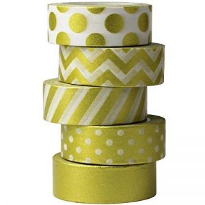 UOOOM 5 Rouleaux de Ruban Adhésif Décoratif Doré (Design 9043) de la marque UOOOM image 0 produit