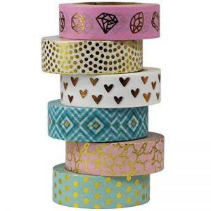 UOOOM 6 rouleaux Washi Tape Ruban Adhésif Papier Décoratif Masking tape Scrapbooking de la marque UOOOM image 0 produit