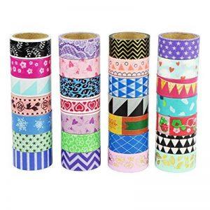 UOOOM Multi-pattern Washi Tape Ruban Adhésif Papier Décoratif Masking tape Scrapbooking (10 modéles) de la marque UOOOM image 0 produit