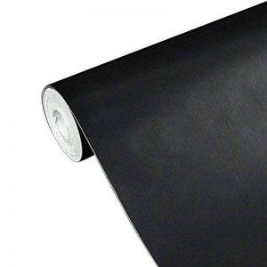 UQ Papier peint 45cmx10M Pure Noir 3D Sticker mural autocollant Amovible Décoration murale de la marque UNIQUEBELLA image 0 produit