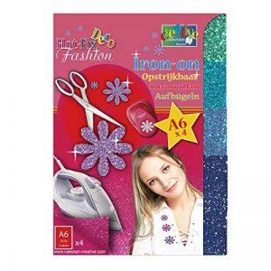 Vaessen creative 23445-002 Transfert à Paillettes Thermocollantes de 4 Feuilles Plastique Multicolore 14,8 x 10,5 x 0,1 cm de la marque Vaessen creative image 0 produit