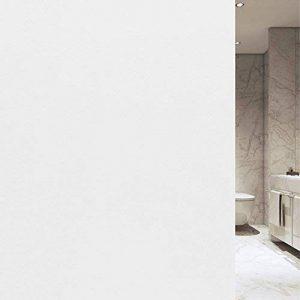 VELIMAX Film Blanc de Fenêtre Protége Intimité Film Blanc Statique en Verre Électrostatique Autocollant Film de Fenêtre pour Maison Bureau Salle de Bain Chambre Cuisine (90x200CM) de la marque VELIMAX image 0 produit