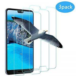 Vivicool [Lotde3]VerreTrempé Huawei P20, Protection écran Huawei P20, Film Protection pour Huawei P20, Ultra Résistant Indice Dureté 9H Anti Rayures - Sans Bulles D'AIR de la marque Vivicool image 0 produit