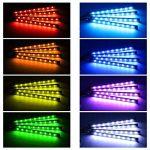 Voiture atmosphère lumière eecoo 48LED voiture éclairage intérieur Bandes LED Leuchten Port USB Chargeur Voiture éclairage d'intérieur voiture Barre lumineuse avec télécommande de la marque EECOO image 1 produit