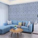 Waahome papier peint, damas papier peint pour la maison cuisine chambre salle de bains, PVC, gris, 32.8ft X 17.7in de la marque WaaHome image 1 produit