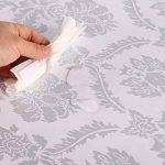 Waahome papier peint, damas papier peint pour la maison cuisine chambre salle de bains, PVC, gris, 32.8ft X 17.7in de la marque WaaHome image 4 produit