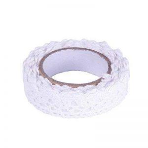 Wady DIY Autocollant Dentelle Trim de Washi Tape Ruban ruban de tissu de coton Decor Craft (Blanc) de la marque Wady image 0 produit