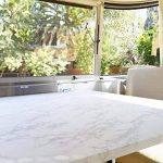 WDragon Film adhésif papier peint brillant pour plan de travail de cuisine, en vinyle imprimé marbre blanc gris, 61x 200,7cm de la marque WDragon image 2 produit