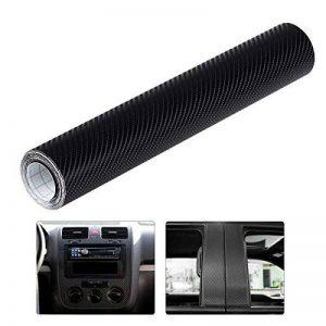 WINOMO 4D Autocollant Fibre Carbone Film Vinyle Adhésif Noir pour voiture Auto Extérieur et Intérieur Décoration de la marque WINOMO image 0 produit