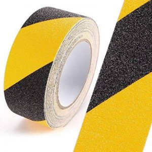Yakamoz 5M x 5cm PVC Ruban Adhésif Antidérapant Autocollant Sécurité Pour Usage Sols, Bateaux, Escaliers, Rampes, Intérieur & Extérieur Noir et Jaune de la marque Yakamoz image 0 produit