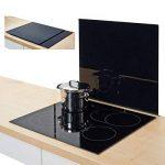 Zeller 26284 Plaque de recouvrement Verre Noir 56 x 50 x 0,8 cm de la marque Zeller image 1 produit
