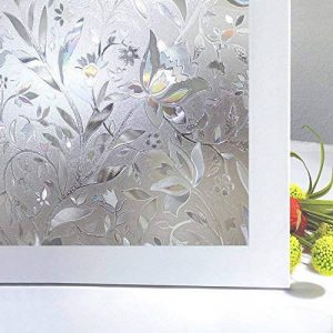 Zindoo Film Pour Vitre Sticker Pour Fenetre Film De Fenêtre Adhésif 3D Film Anti Regard Anti UV Motif Tulipes Fleur Pour Decoration Maison Bureau Portes Chambre Cuisine 45cm × 200 cm de la marque Zindoo image 0 produit